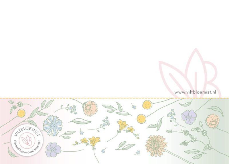 cadeaubon/ kaart Viltbloemist