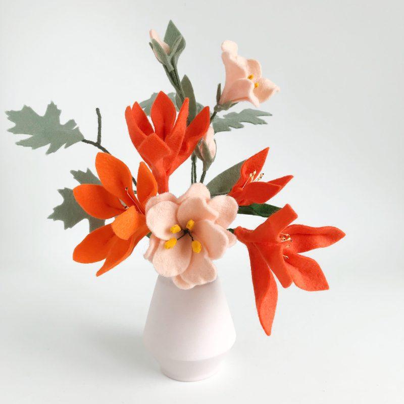 Viltbloeiers Oranje Lelie, Lisiathus en Eikenblad