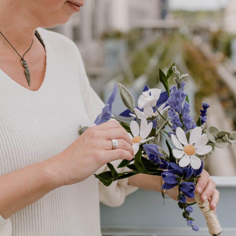 BruidsBoeket paars_lila