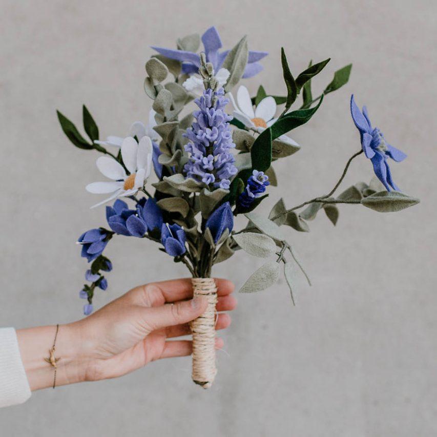 BruidsBoeket paars/lila