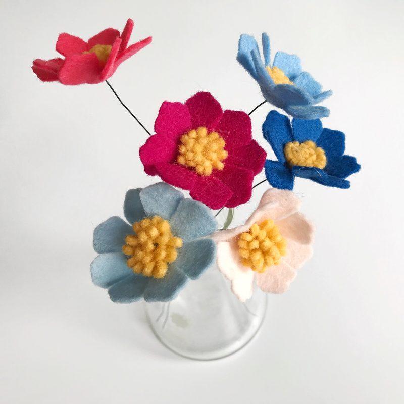 Workshop Cosmea (Online Creamarkt Viltbloeier)