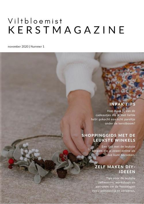 Het viltbloemist kerstmagazine, steun de kleine ondernemer!